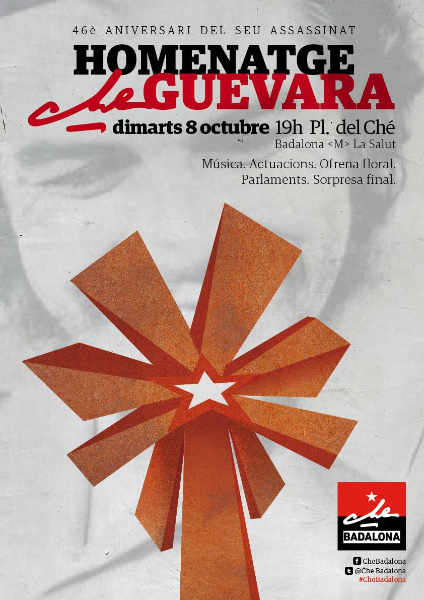 Badalona fa un homenatge al Che en el 46é aniversari del seu assassinat