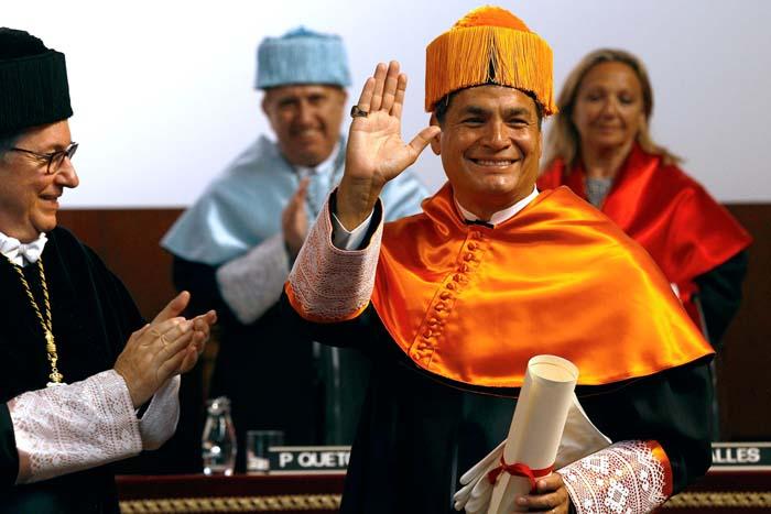 Discurs President Rafael Correa en rebre Doctorat Honoris Causa a la Universitat de Barcelona