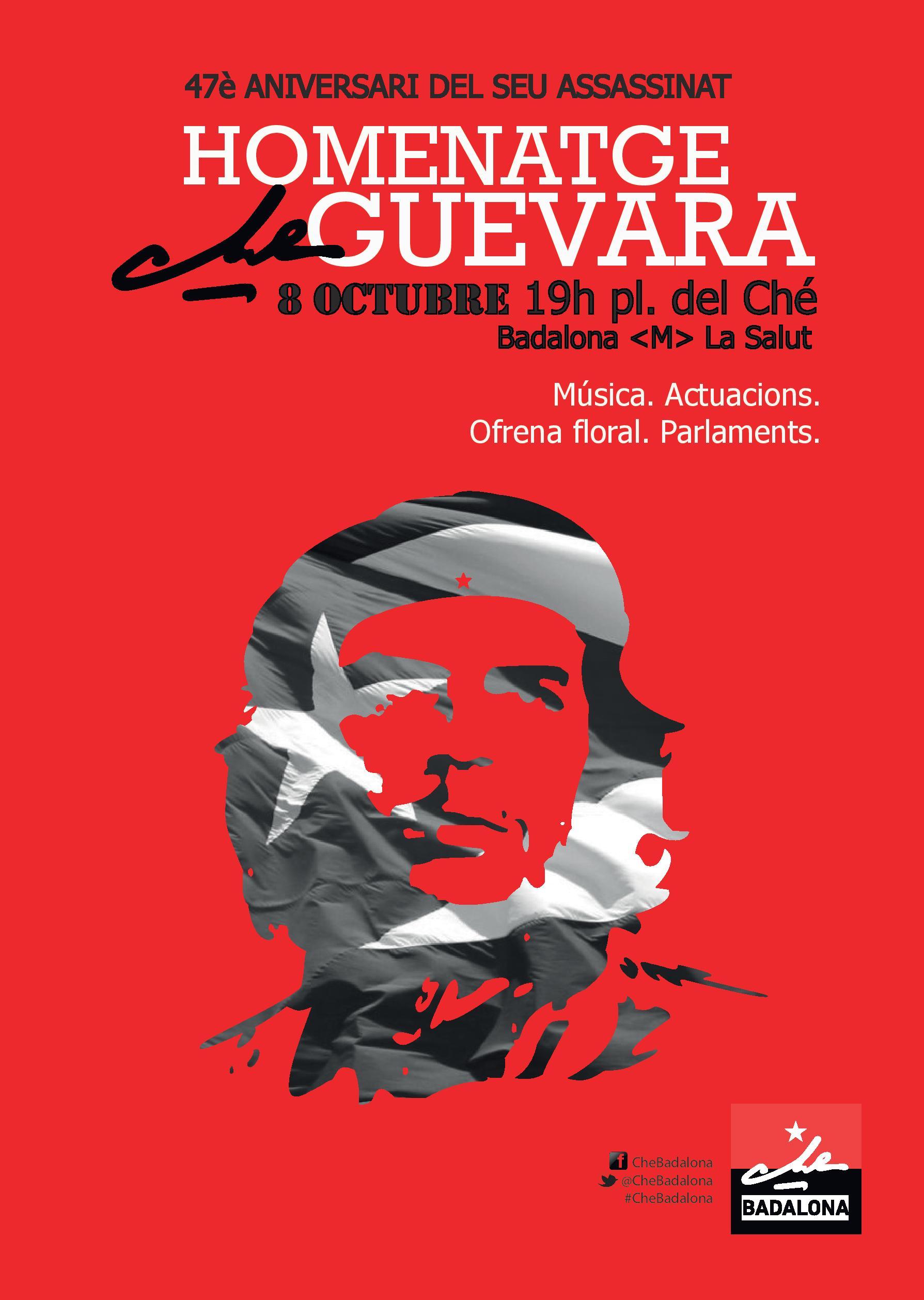 Homenaje a Che Guevara en  Badalona