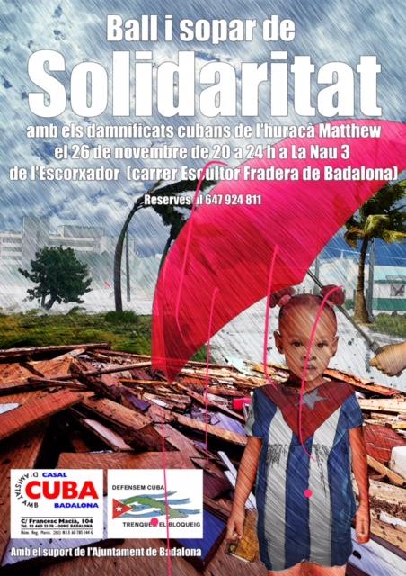 26 novembre festa i sopar cubà solidari
