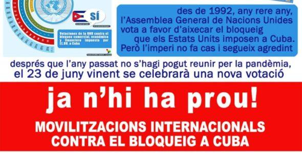 19 de juny Barcelona contra el bloqueig
