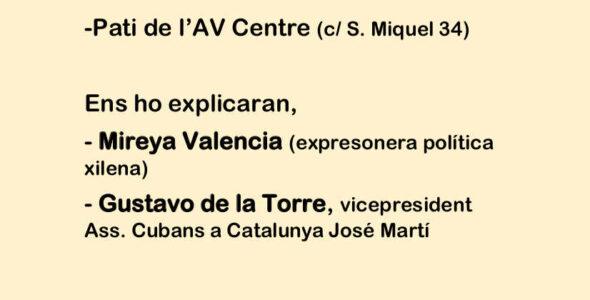 Xerrada situació socio-política a Xile i Cuba avui.